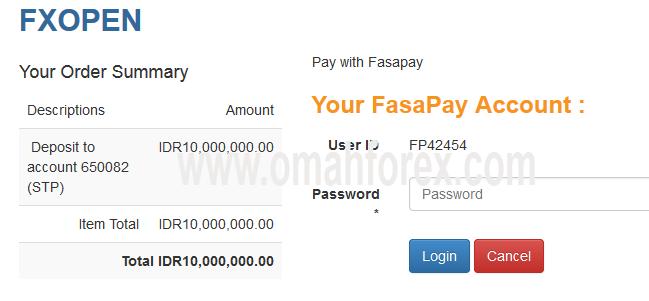 cara deposit FXOpen